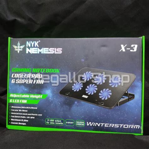 jual nyk  winterstorm gaming cooling pad laptop  fan garansi resmi hitam jakarta pusat