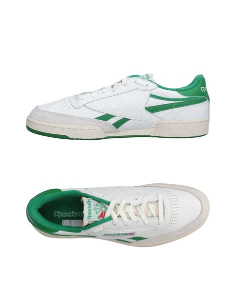 s low top sneakers lyst reebok low tops sneakers in white for