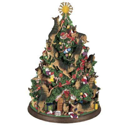 german shepherd christmas tree the danbury mint