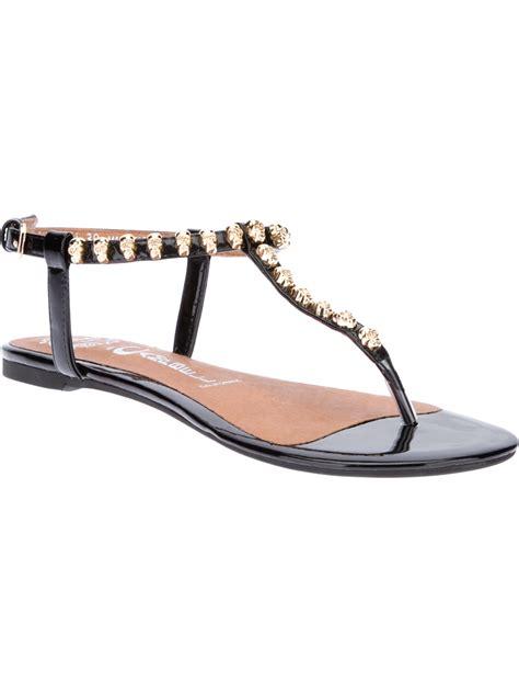 studded flat sandals jeffrey cbell studded flat sandal in black lyst