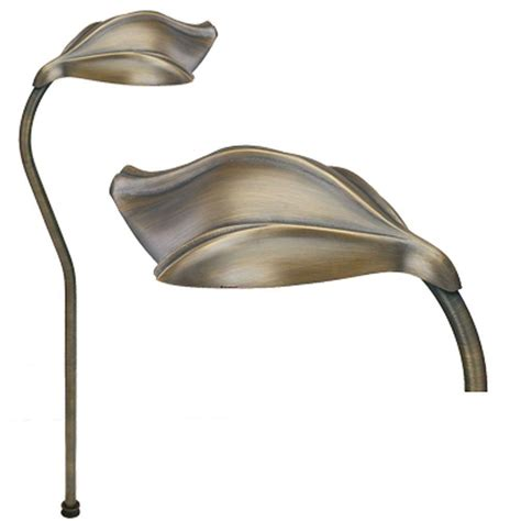 Brass Landscape Lighting Progress Lighting Low Voltage 18 Watt Gilded Iron Landscape Path Light P5276 71 The Home Depot