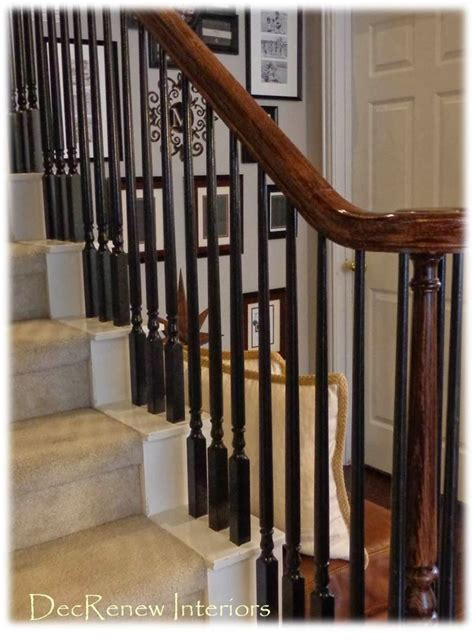 painting banister spindles 25 best ideas about black banister on pinterest