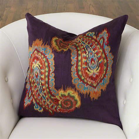 global pillows global views ikat paisley pillow