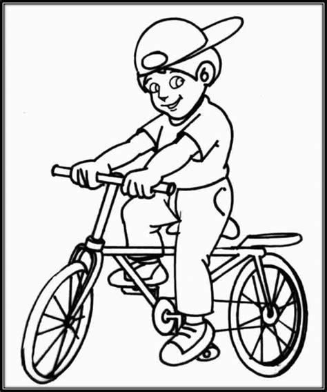 imagenes niños manejando bicicleta dibujos de ni 241 os en bicicleta para colorear colorear
