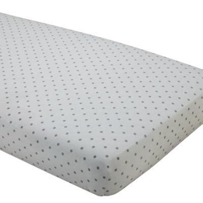 Grey And White Polka Dot Crib Sheet by More Crib Sheet Can Never Enough Crib