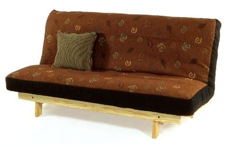 armless futon set complete solid wood frame and 9 inch