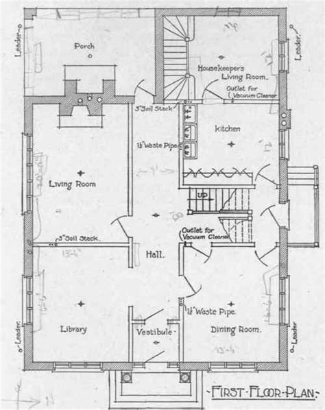 Floor Plan With Plumbing Layout by Examples Of Residence Plumbing