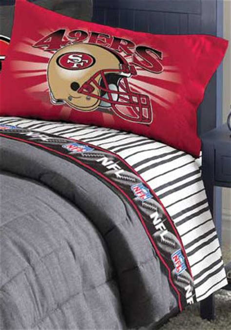 49er comforter san francisco 49ers twin size pinstripe sheet set