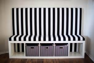 banquette seating ikea stripeddiybanquette ikeahack jpg