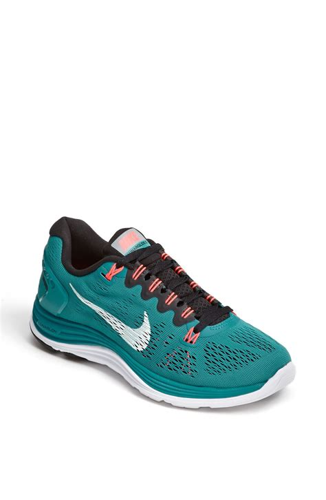 teal running shoes nike running shoe in blue teal white black lyst