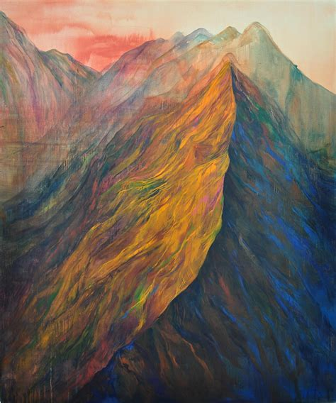 acrylic painting mountains spot ji seon observationist