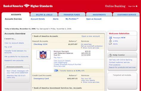 bank of america page bank of america bee digital