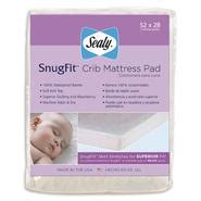 sealy baby snugfit crib mattress pad summer infant flannel 27 in x 36 in waterproof pad