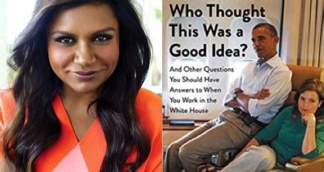 mindy kaling obama mindy kaling options white house memoir for tv