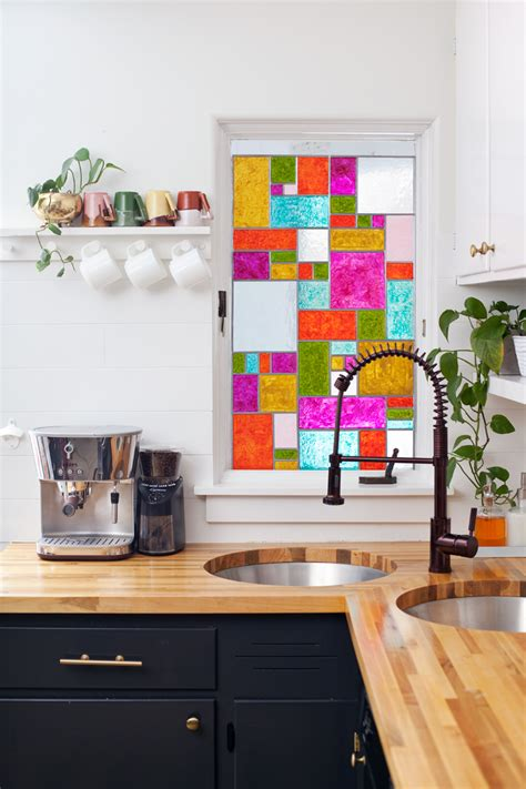 Fenster Sichtschutz Basteln by Diy Faux Stained Glass A Beautiful Mess