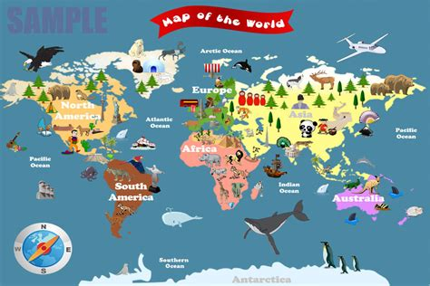 world maps for kids com personalized laminated world map for kids let s