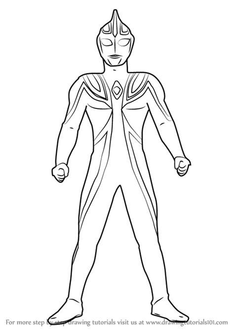 Gambar Mewarnai Robot Ultramen - Download Kumpulan Gambar