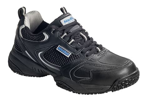 steel toe athletic shoes for nautilus mens steel toe eh athletic black leather sneaker