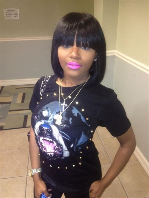 bang wraps with weave straight short bang hairstyle sew in styles pinterest