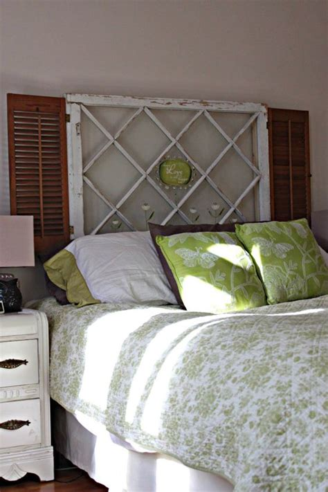 shutter headboard ideas love this headboard made out of old an old window and