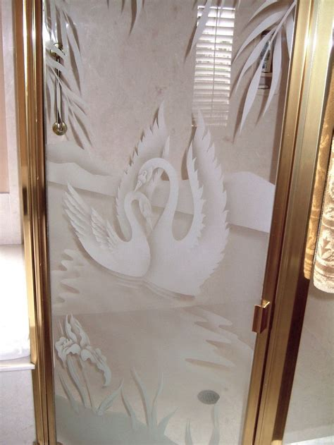 Swan Shower Doors Sn Sg Gls Shr Enclrs Etched Glass Country Decor