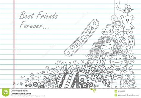 doodle free with friends friendship day stock vector image of greeting friends