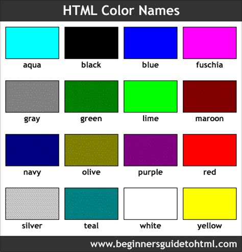 web page colors