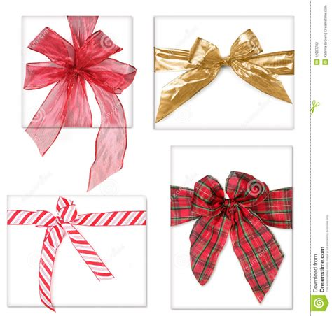 beautiful christmas gifts with bows stock photo image