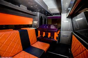 Orange Kitchen the reaper campervan is fully functioning and features a