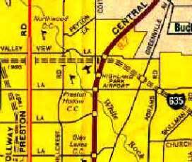 highland park texas map abandoned known airfields texas northern dallas area