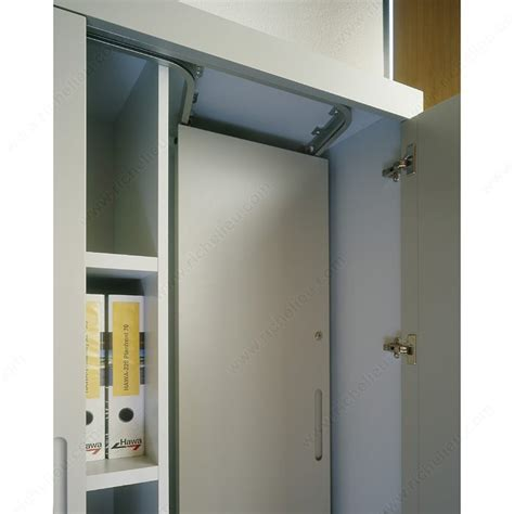 sliding system for parallel stacking of cabinet front