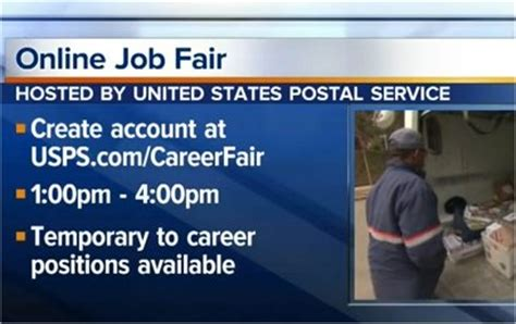 postal service to hold fair to fill temporary today postal