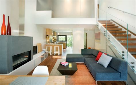 row house living room rowhouse contemporary living room other by s2