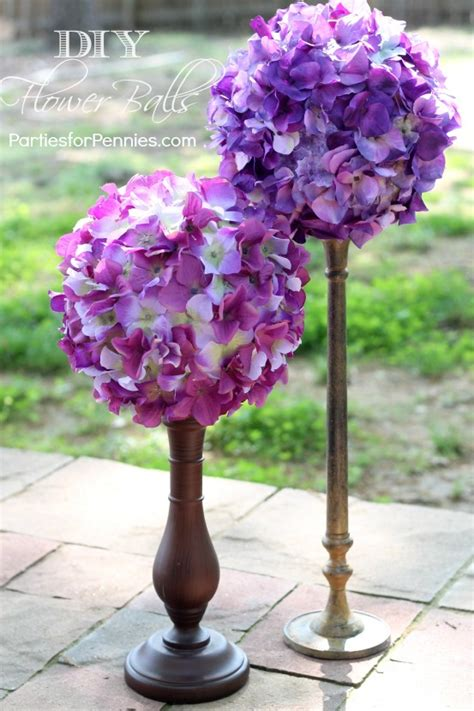 how to make wedding centerpieces with flowers diy flower balls for pennies