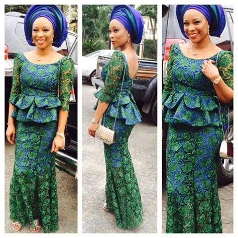 photo of nigeria lace skirt and blouse african modern lace skirt and blouse 2017