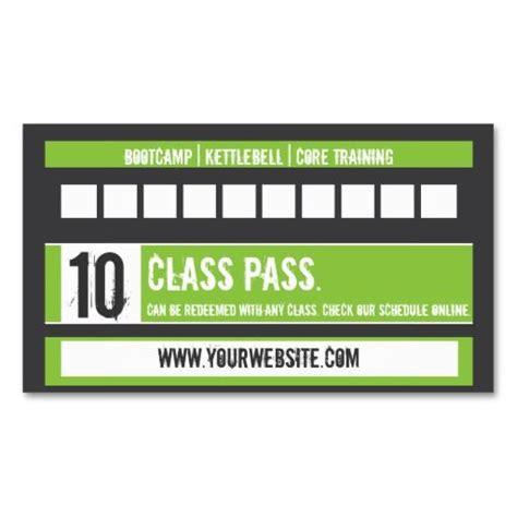 10 class pass card template fitness class business card 10 class pass card fitness