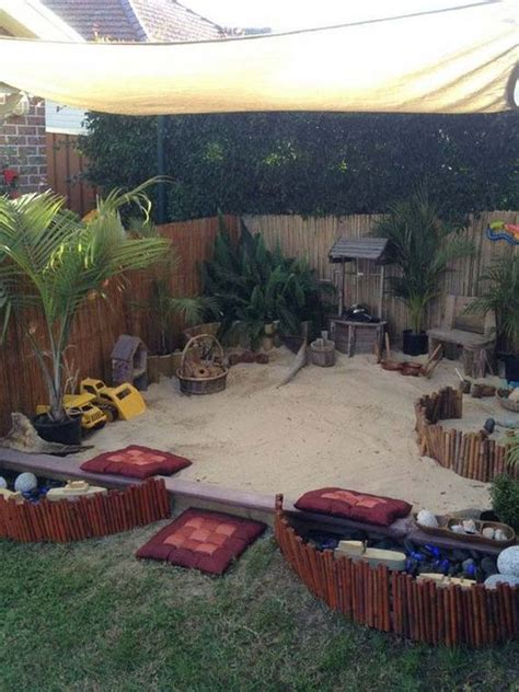 backyard sandpit how to turn the backyard into fun and cool play space for