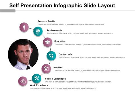 Self Presentation Infographic Slide Layout Powerpoint Guide Powerpoint Presentation Slides Self Presentation Template