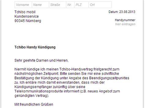 Handyvertrag Kündigen Blau De Vorlage Tchibo Mobil K 252 Ndigen Vorlage Chip