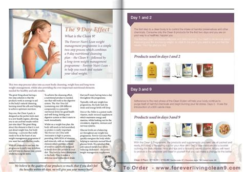 Forever Living Detox Diet Plan by The Forever Nutri Lean Weight Management Programme Is A