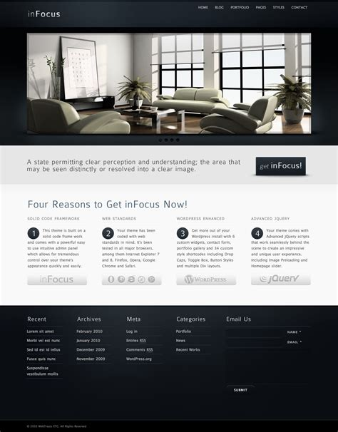infocus powerful professional wordpress theme by