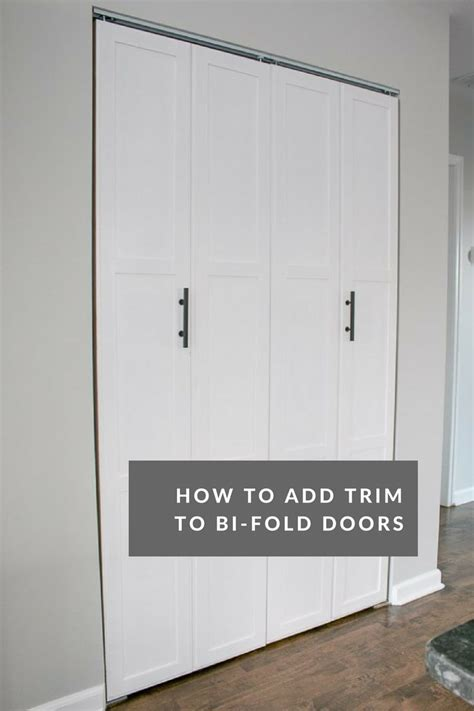 a diy door tutorial to add trim to plain bifold doors - Adding Trim To Bifold Closet Doors