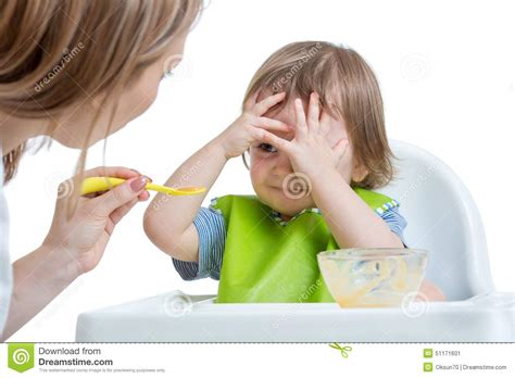 refuses to eat child boy refuses to eat closing by stock photo image 51171601