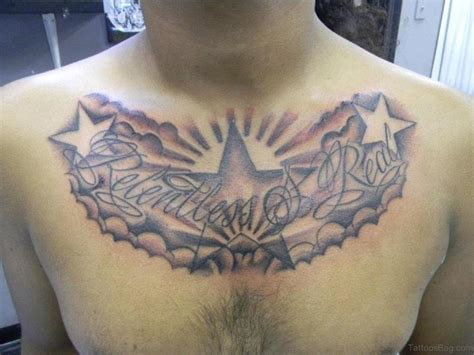 star tattoo designs male 50 glorious chest tattoos for