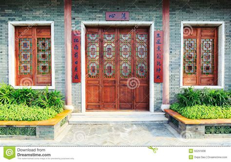 windows for front of house wooden front door wood window of chinese classic house stock photo image 55251838