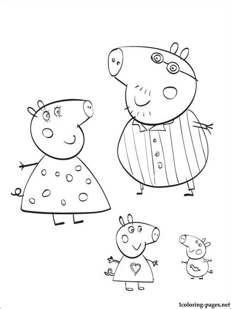 peppa pig swimming coloring page free coloring pages of peppa pig swimming