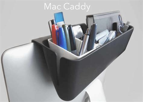Apple Desk L by Mac Caddy For Imac Keeps Your Desk Clear Geeky