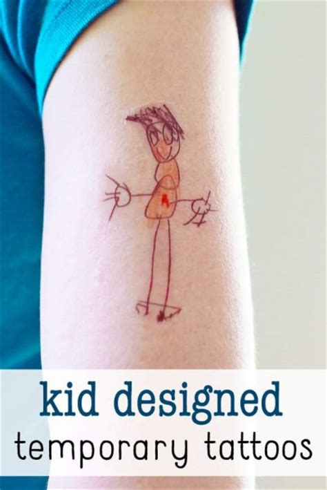 diy temporary tattoos designed by kids
