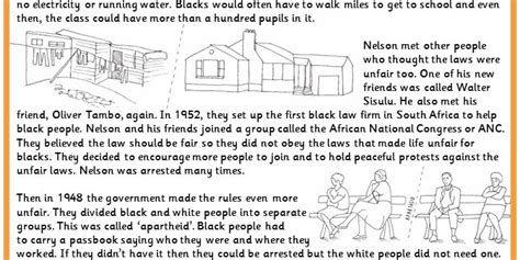 nelson mandela biography for ks2 nelson mandela worksheet resultinfos