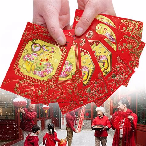 new year lucky money etiquette 6pcs fu festival envelope lucky money